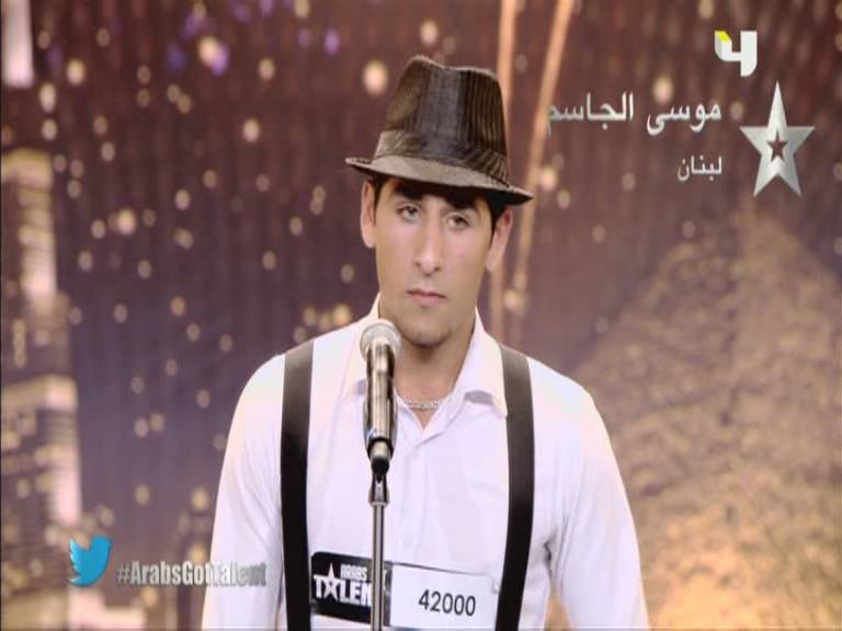 فيديو مشاهدة اداء موسي الجاسم - لبنان - أرب قوت تالنت - Arabs Got Talent السبت 12-10-2013