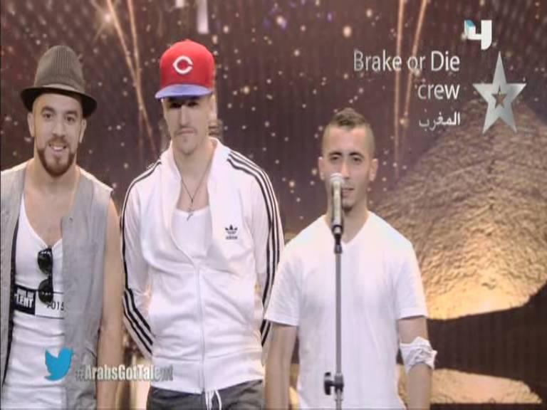 ������ ���� ���� Brake or Die crew - ������ - ������ -��� ��� ����� - Arabs Got Talent 12/10/2013