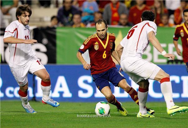 الماتادور الأسباني يتأهل للمونديال بالفوز على جورجيا 2014
