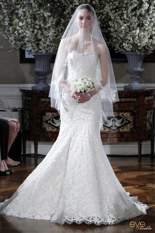 احدث موضة فساتين زفاف 2014 , اجمل واجدد الفساتين استايلات شيك