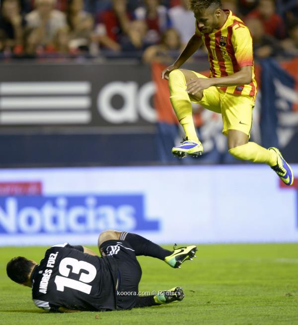 ملخص و نتيجة مباراة برشلونة و أوساسونا في الدوري الاسباني اليوم السبت 19-10-2013