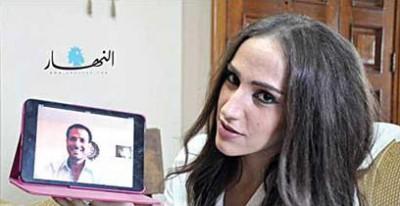 أول زواج شرعي في لبنان عبر سكايب 2014