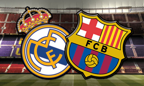 El Clasico match tussen Barcelona en Real Madrid in de Spaanse competitie op zaterdag 26 oktober, 20