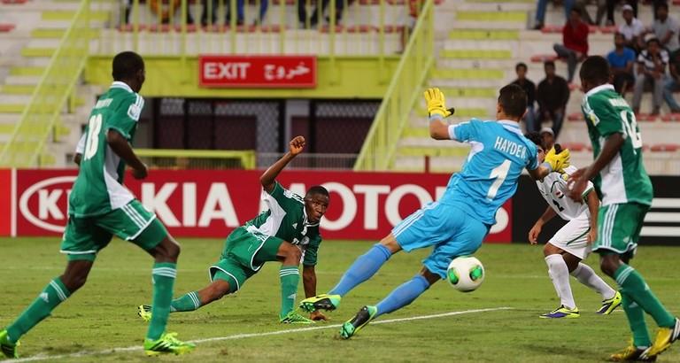 نتيجة مباراة العراق و نيجيريا في كاس العالم للناشئين اليوم الجمعة 25-10-2013