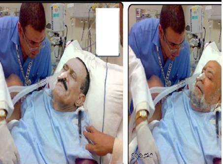 صور رئيس اليمن السابق علي عبدالله صالح في المستشفي 2013