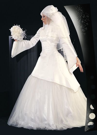 فساتين زفاف محجبات 2014 , صور فساتين زفاف روعة 2014