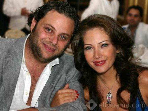 صورة الممثلة السورية سلافة معمار مع زوجها الممثل والمخرج السوري سيف الدين سبيعي 2014