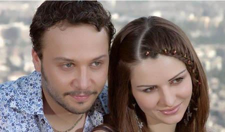 صورة الممثلة السورية سوسن أرشيد وزوجها الممثل السوري مكسيم خليل 2014