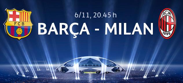 موعد مباراة برشلونة وميلان والقنوات الناقلة مباشرة اليوم الاربعاء 6-11-2013