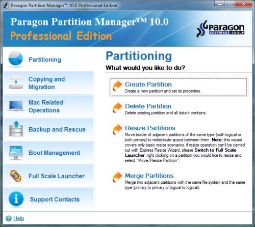 تحميل برنامج تقسيم الهارد بدون فورمات Paragon Partition Manager