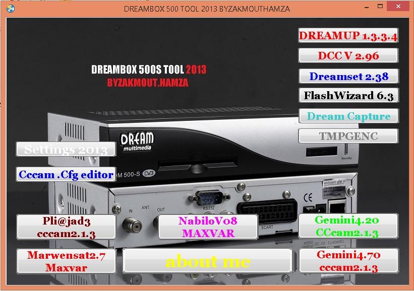 تجمعية برامج وصور للدريم بوكس 500 , dreambox tool , برامج دريم بوكس محدثه