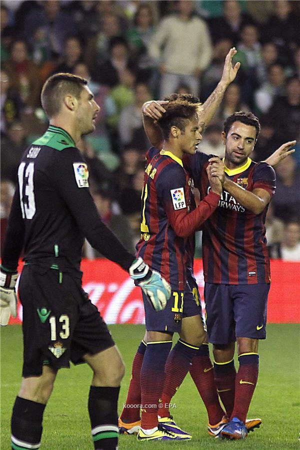 نتيجة مباراة برشلونة و ريال بيتيس في الدوري الاسباني اليوم الاحد 10-11-2013