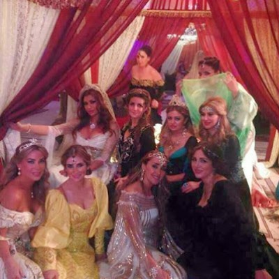 صور حفل زفاف حريم السلطان في دمشق 2013 , حفل باذخ في دمشق باسم حريم السلطان 2014