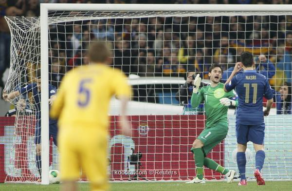 نتيجة مباراة اوكرانيا و فرنسا في ملحق كاس العالم اليوم الجمعة 16-11-2013