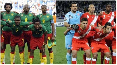 توقيت مباراة تونس و الكاميرون في تصفيات كاس العالم اليوم الاحد 17-11-2013