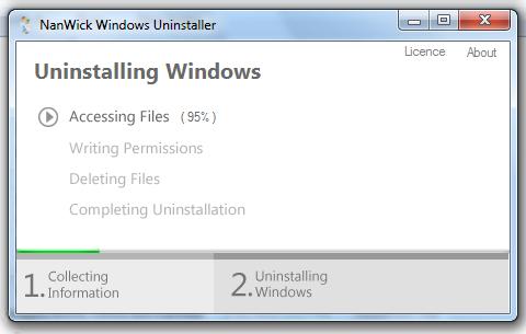 برنامج لإلغاء تثبيت الويندوز فيستا 7،8 NanWick Windows Uninstaller
