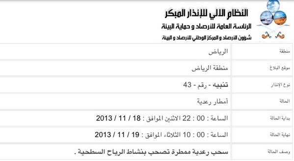 اسباب تفاصيل تعليق الدراسه بالرياض يوم الثلاثاء 19-11-2013