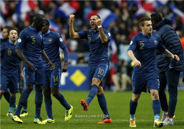 نتيجة مباراة فرنسا و اوكرانيا في الملحق و تأهل المنتخب الفرنسي الي كأس العالم 2014