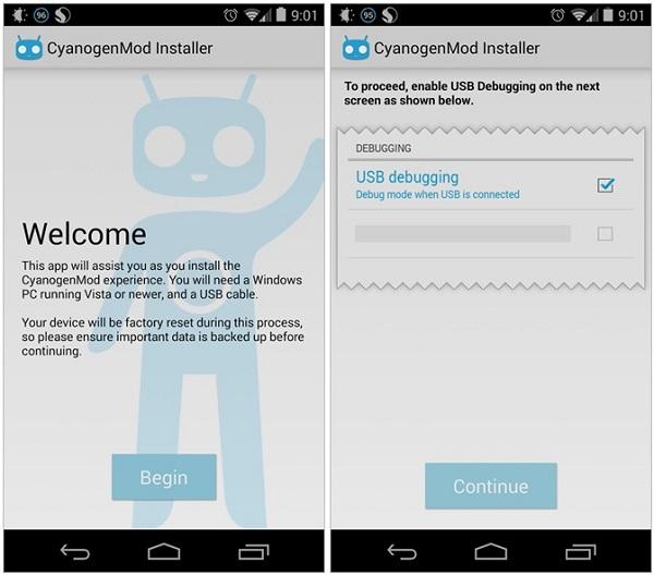 تطبيق CyanogenMod Installer الرسمي لتثبيت روم أندرويد سيانوجين مود