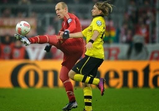 Bayern München und Borussia Dortmund in der Bundesliga am Samstag 2013.11.23