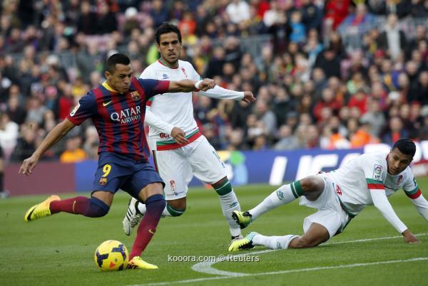 نتيجة مباراة برشلونة و غرناطة في الدوري الاسباني اليوم السبت 23-11-2013