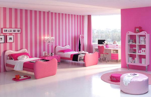 ديكورات غرف نوم بنات 2014 تصميمات غرف نوم بناتية 2014 Bedroom Designs