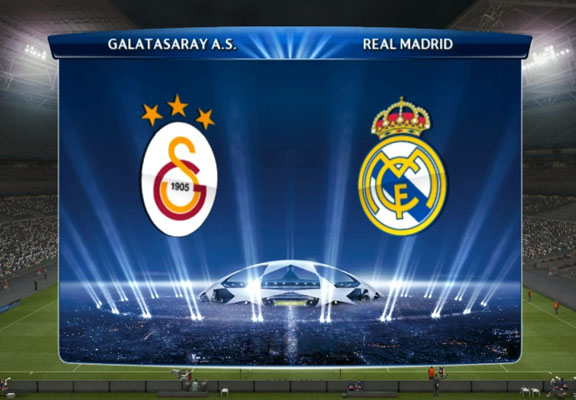 Real Madrid vs Galatasaray in the Champions League Wednesday 27.11.2013