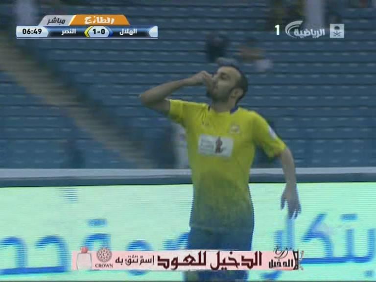 هدف محمد السهلاوي في مرمي الهلال اليوم الاثنين 22-1-1435