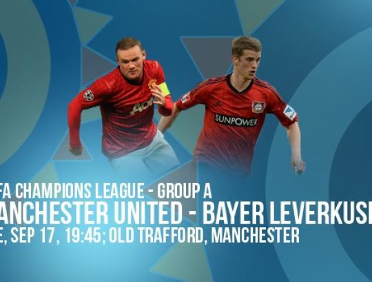 أهداف مباراة باير ليفركوزن و مانشستر يونايتد في دوري أبطال أوروبا اليوم الاربعاء 27-11-2013