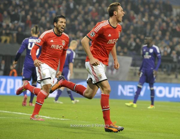نتيجة مباراة بنفيكا البرتغالي و أندرلخت البلجيكي في دوري ابطال اوروبا اليوم الاربعاء 27-11-2013