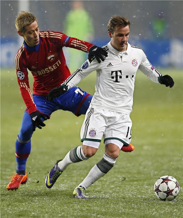 نتيجة مباراة بايرن ميونيخ الألماني و سسكا موسكو الروسي اليوم الاربعاء 27-11-2013