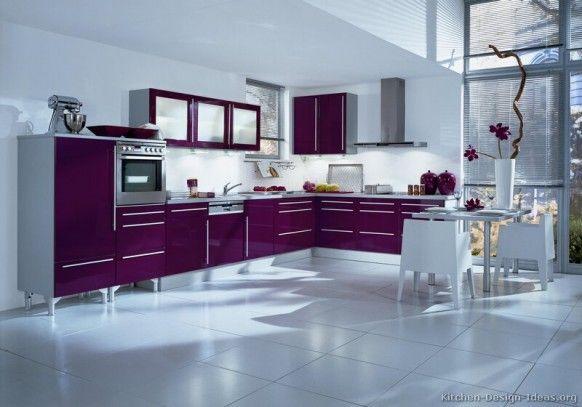 صور مطابخ باللون الروز, صور مطابخ باللون الموف مطبخ فرنسى