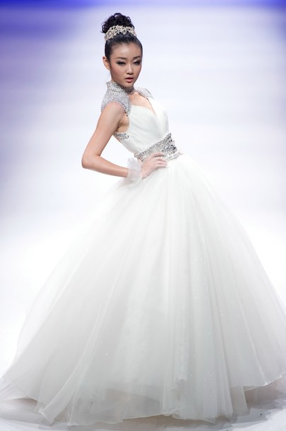 صور فساتين زفاف صينية 2019 , صور فساتين أفراح صينية 2019 ,Chinese Wedding Dresses