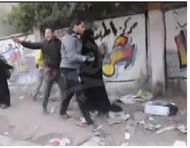 التحرش بمنتقبة و الاعتداء عليها بالهرم على يد مجهولين