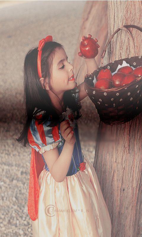 رمزيات جالاكسى طفولية تاكلين التفاح لوحدك