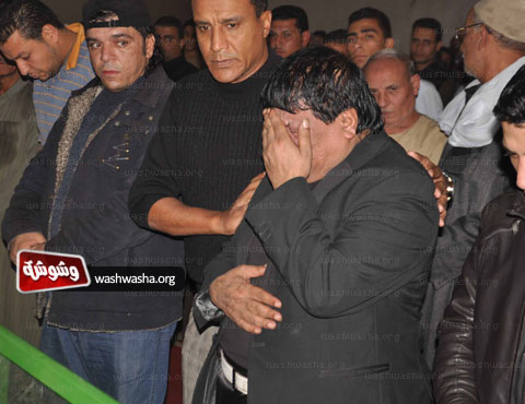 وفاة زوجة المغني الشعبي شعبان عبد الرحيم 2013 , صور جنازة زوجة الفنان شعبان عبدالرحيم 2013
