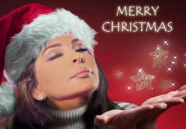 صور فنانين وفنانات بملابس بابا نويل 2014 ، اجمل صور مشاهير بزي بابا نويل