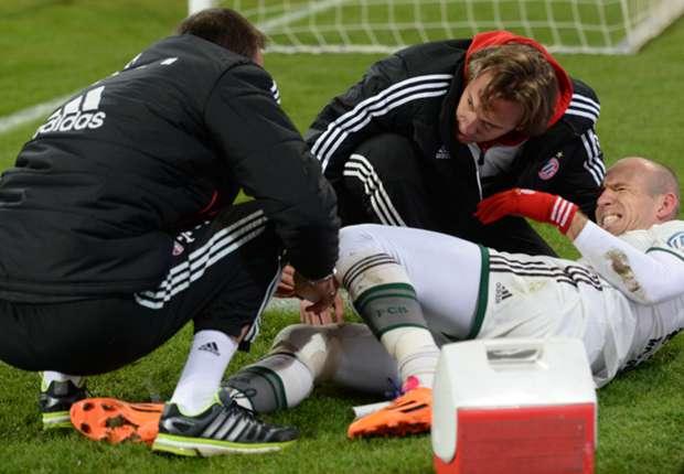 إصابة روبين نجم بايرين ميونيخ وغيابه عن كأس العالم للأندية بالمغرب 2013 , تقرير كامل