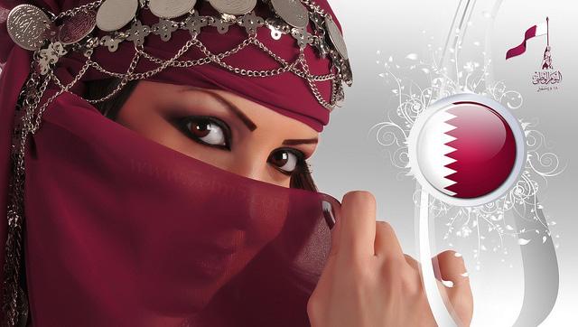 صور بنات قطر في اليوم الوطني , اجمل بنات قطر في اليوم الوطني القطري