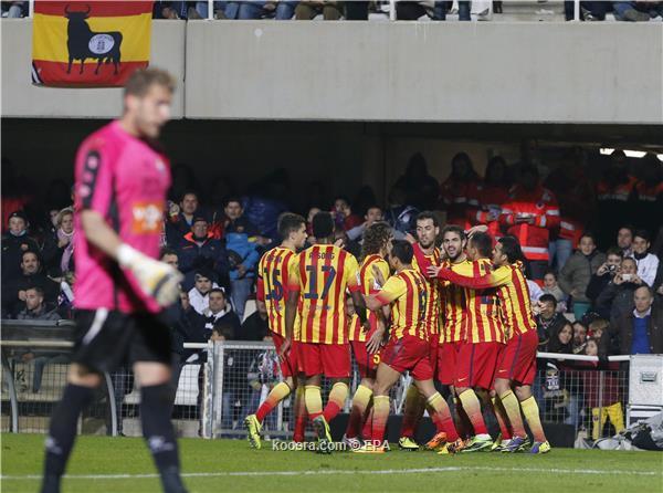 نتيجة مباراة برشلونة و قرطاجنة في الكأس الاسباني اليوم الجمعة 6-12-2013