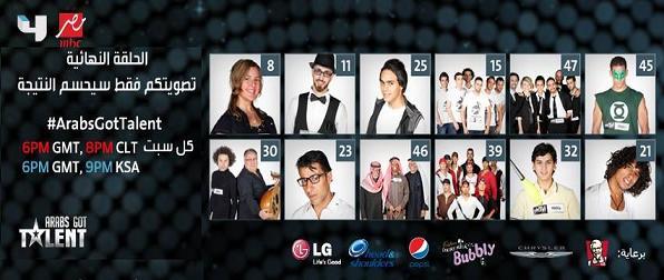 الحلقة الختامية من برنامج Arabs Got Talent اليوم السبت 7-12-2013 كاملة