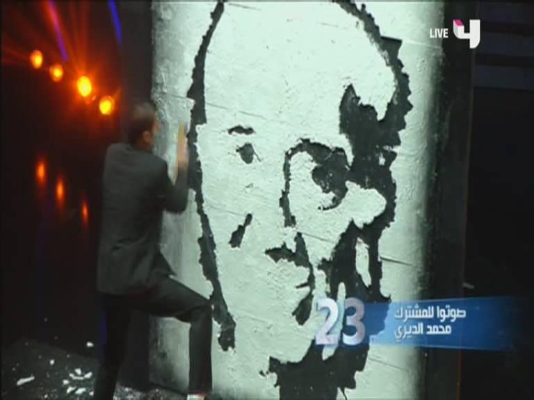 يوتيوب رسم محمد الديري - الحلقة الاخيرة من أرب قوت تالنت - Arabs Got Talent اليوم السبت 7-12-2013