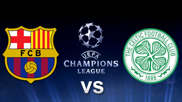 Barcelona vs Celtic in the Champions League Wednesday 11/12/2013