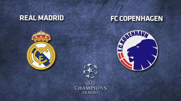 FC Kobenhavn v Real Madrid Tuesday, 10-12-2013