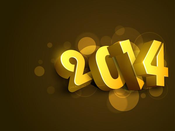 خلفيات أيباد راس السنة الميلادية 2014 , صور أي باد تهنئة براس السنة الميلادية 2014 ,iPad