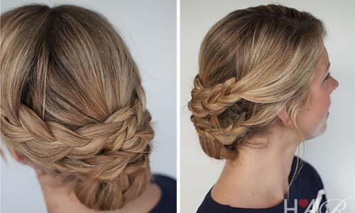 سريحات شعر قصيرة للسهرة 2014 , بالصور خطوات عمل تسريحة للشعر القصير 2014