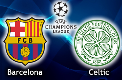The result of the match between Barcelona and Celtic in the Champions League on Wednesday 11/12/2013