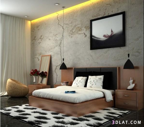 اجمل دهانات غرف نوم , صور ديكورات غرف نوم بسيطة ورخيصة