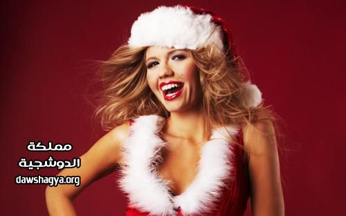 صور بنات جميلات بلبس بابا نويل برأس السنة , صور لانجيرى لبابا نويل