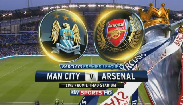 Arsenal vs Manchester City in the Premier League on Saturday, 12/14/2013